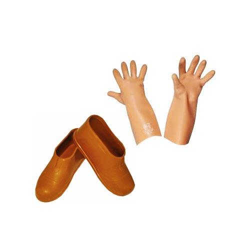 Перчатки и коврики диэлектрические