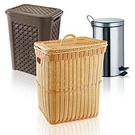Відра та кошики для ванної кімнати