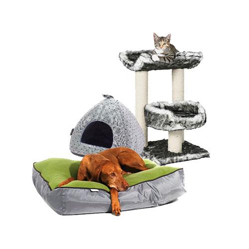 Будинки та лежаки для тварин