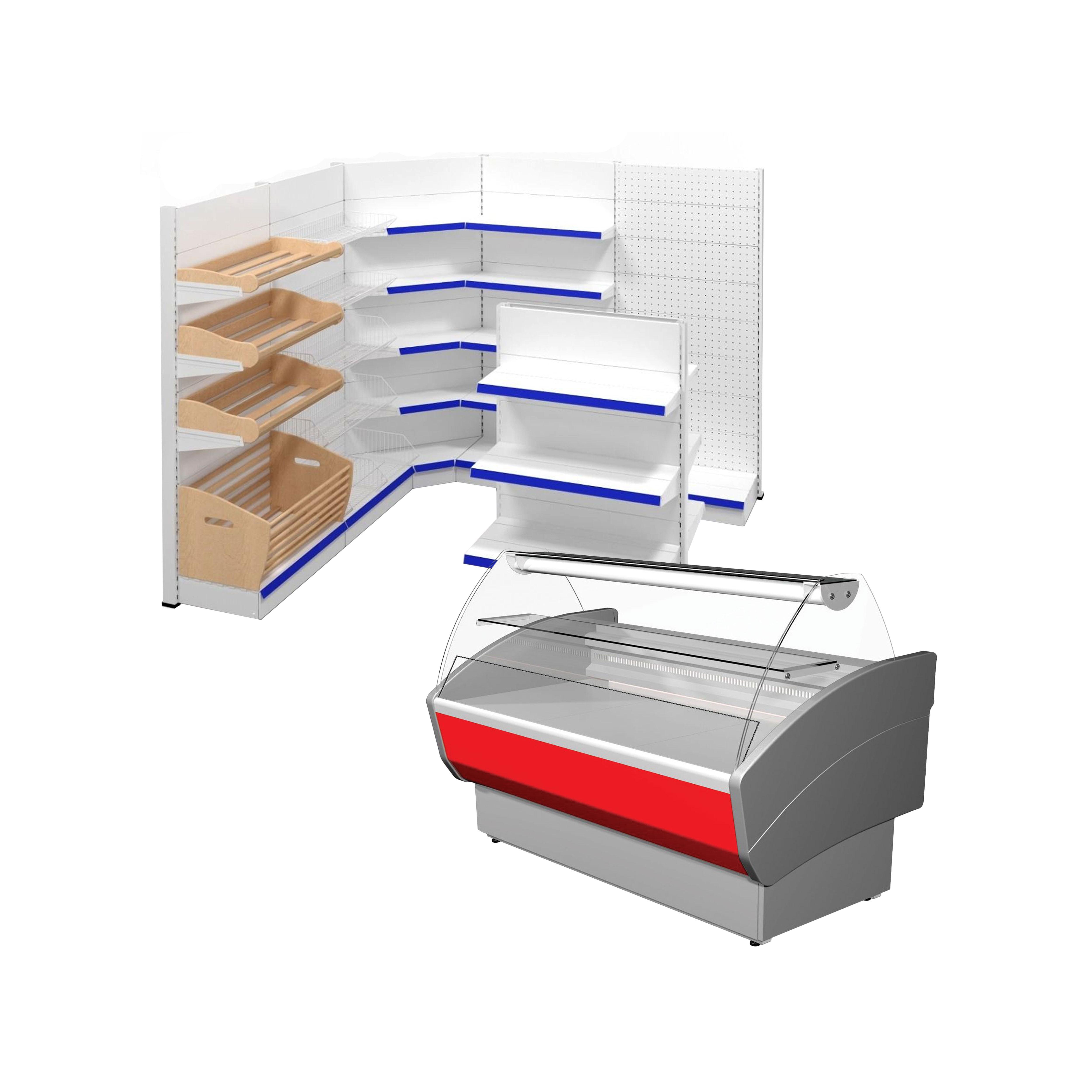 Металеві стелажі для магазинів