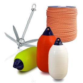 Якорі, кранці та мотузки