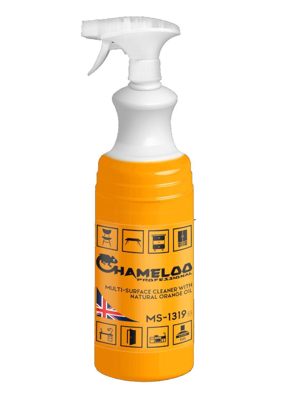 Професійний засіб для чищення всіх типів поверхонь з апельсиновим маслом Chameloo Professional 1 л розпилювач