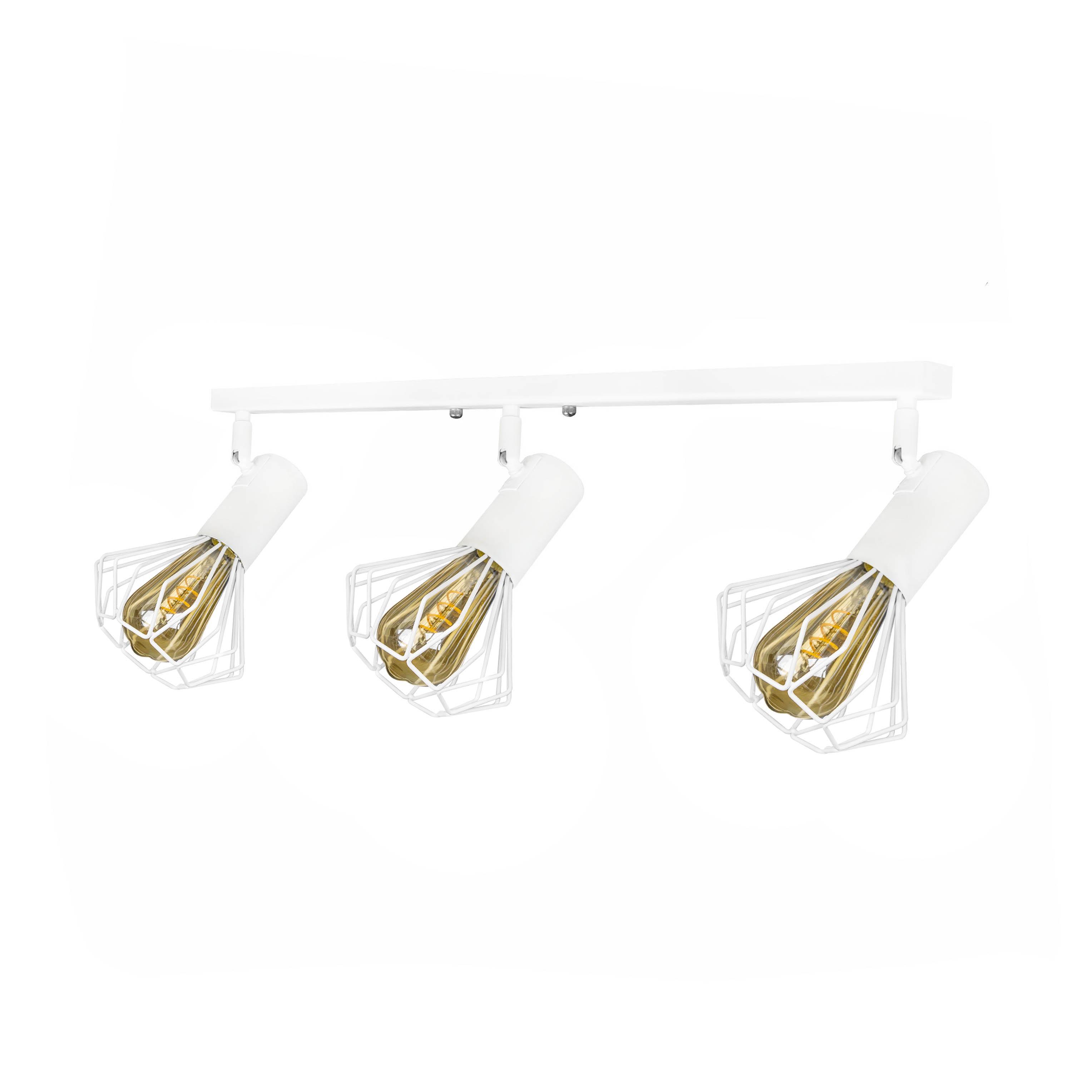 Світильник лофт MSK Electric Diadem настінно-стельовий NL 22151-3W Білий