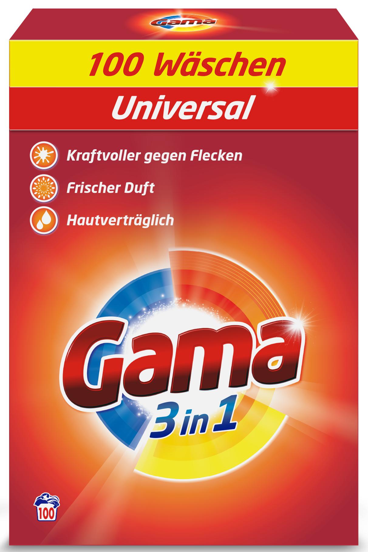 Пральний порошок Gama 3в1 100 прань 6,5 кг
