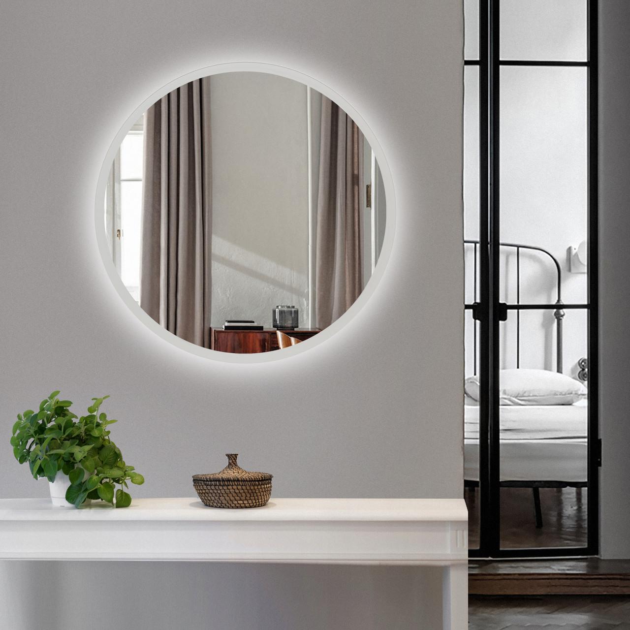 Зеркало настенное с подсветкой Art-Com 600 мм Белый (ZL 3)