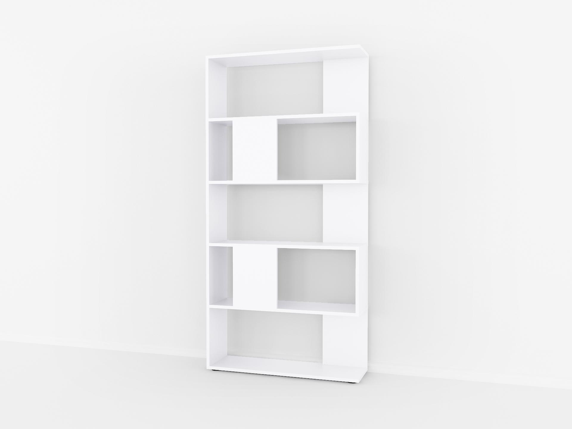 Книжная полка Fanera Studio 162х80х23 Белый