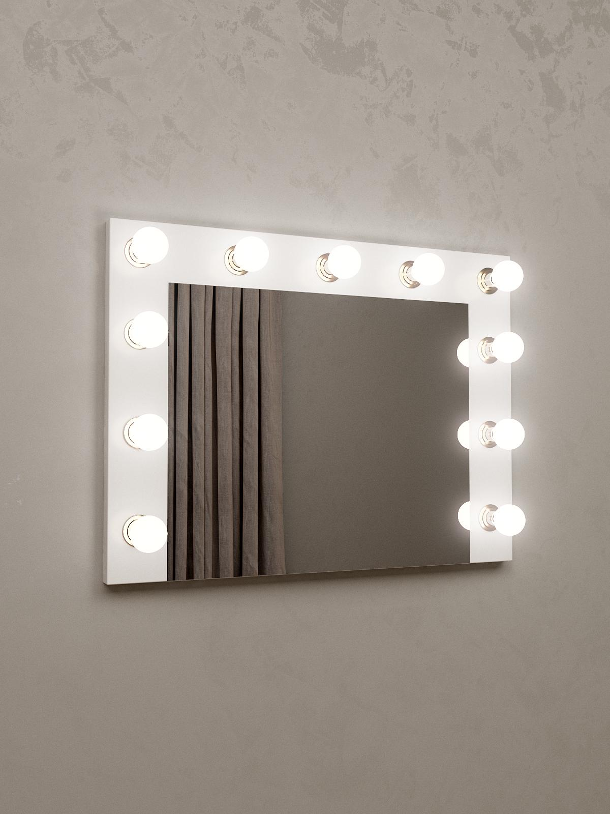 Зеркало гримерное Tobi Sho 12 настенное с подсветкой