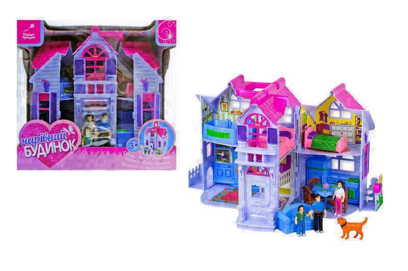 Будиночок для ляльок Країна іграшок Чарівний Будинок 27х26х18 см Фіолетово-рожевий (PL519-0801)
