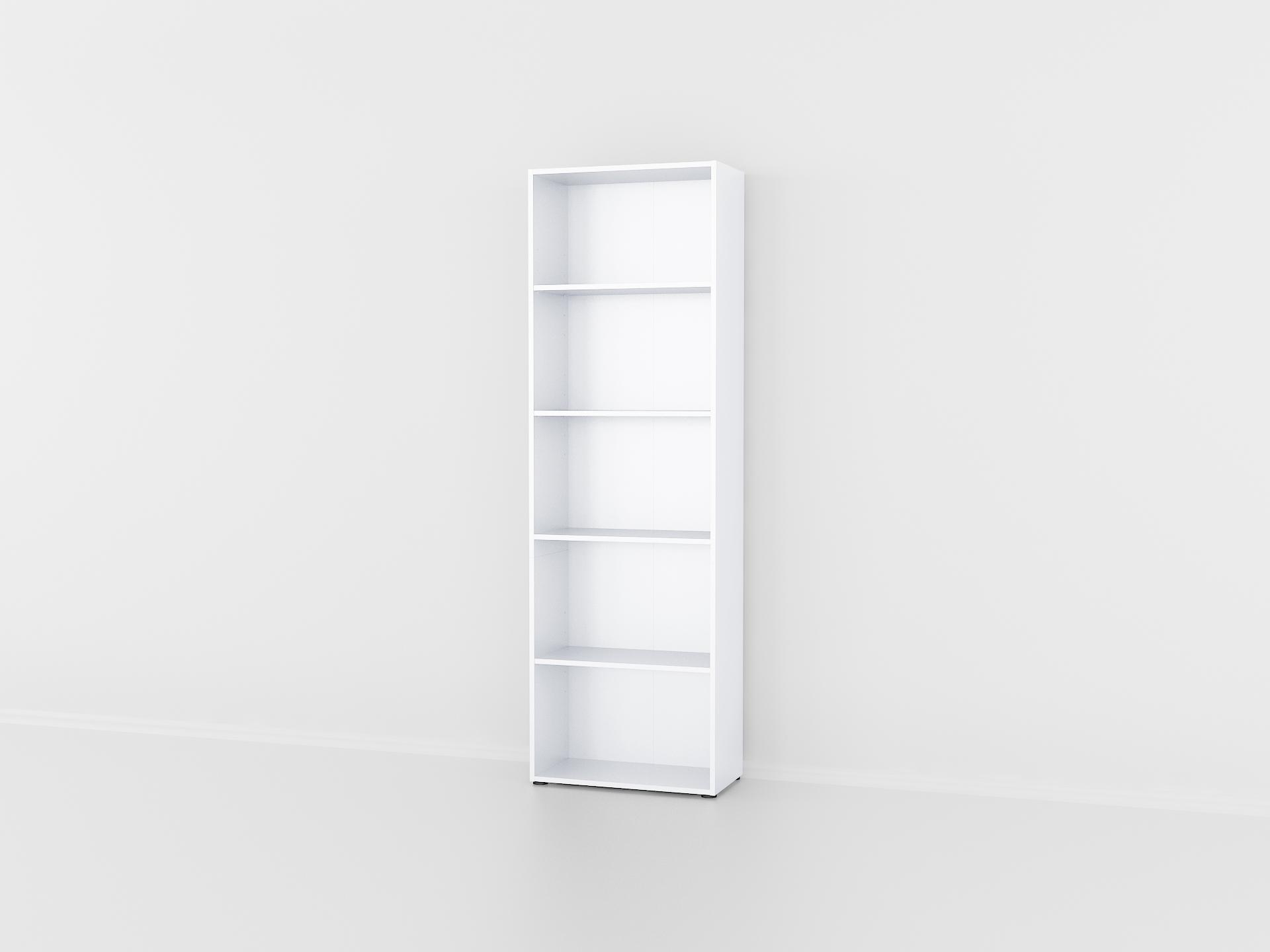 Стеллаж для дома с задней стенкой из ДСП Белый (P0077B)