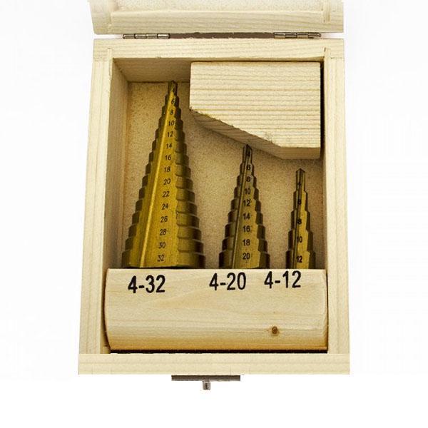 Набор ступенчатых сверл 4-12/4-20/4-32 мм (16125090)