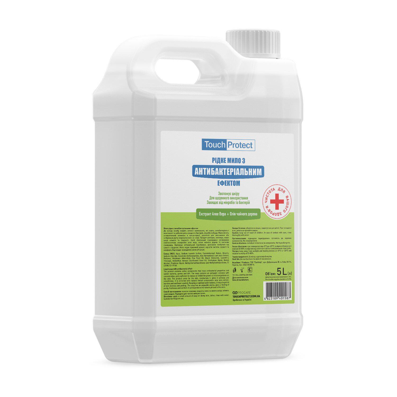 Жидкое мыло с антибактериальным эффектом Touch Protect Алое вера-Чайное дерево 5 л (4823109401587)
