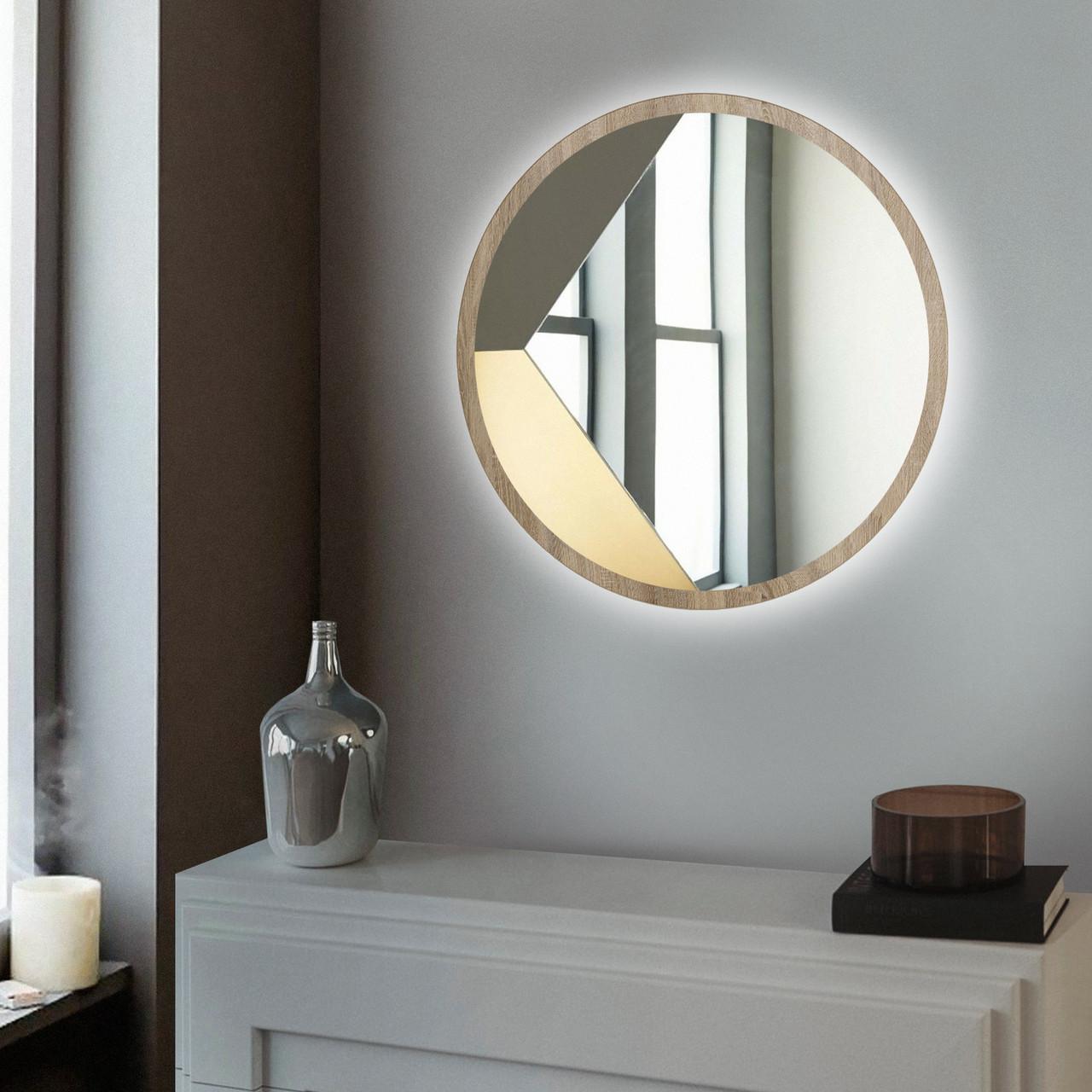 Зеркало настенное с LED подсветкой Art-Com 600 мм Дуб сонома (ZL3)