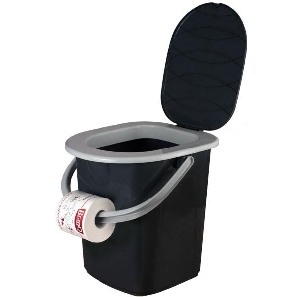 Ведро-туалет BranQ 22 л графит