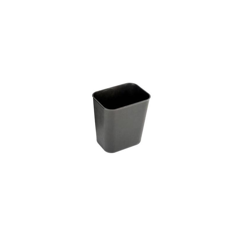 Прямоугольная корзина для мусора Probbax 6,6л  черная (FR-1002-BLA)