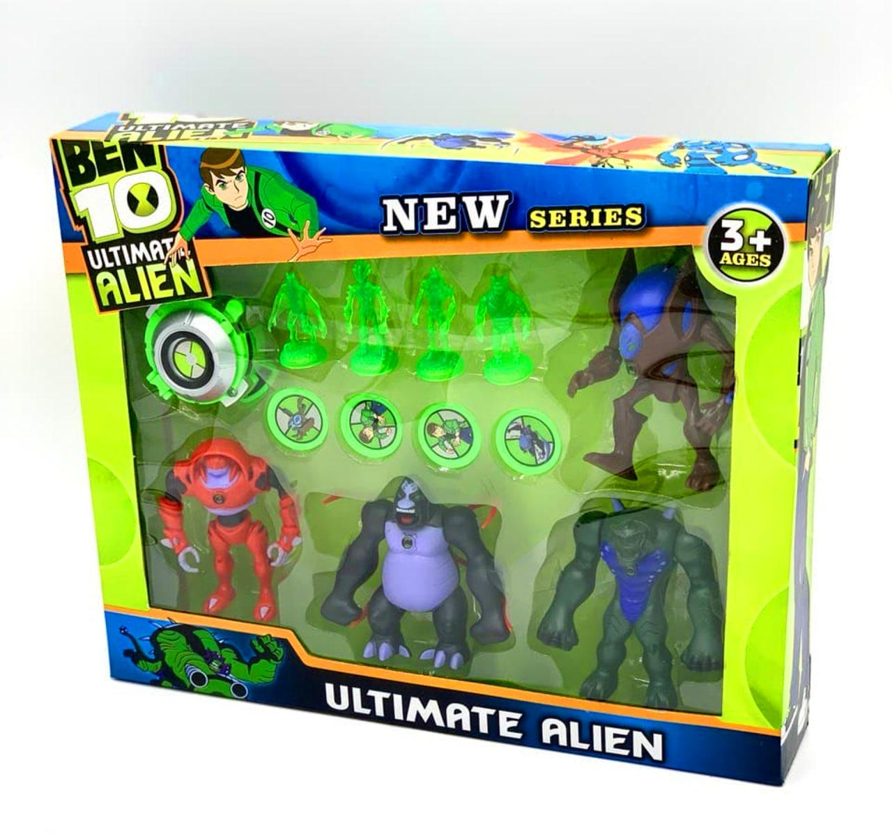 Набір Бен Тен з чотирьох героїв із фігурками та годинником Ben 10 (WE10)