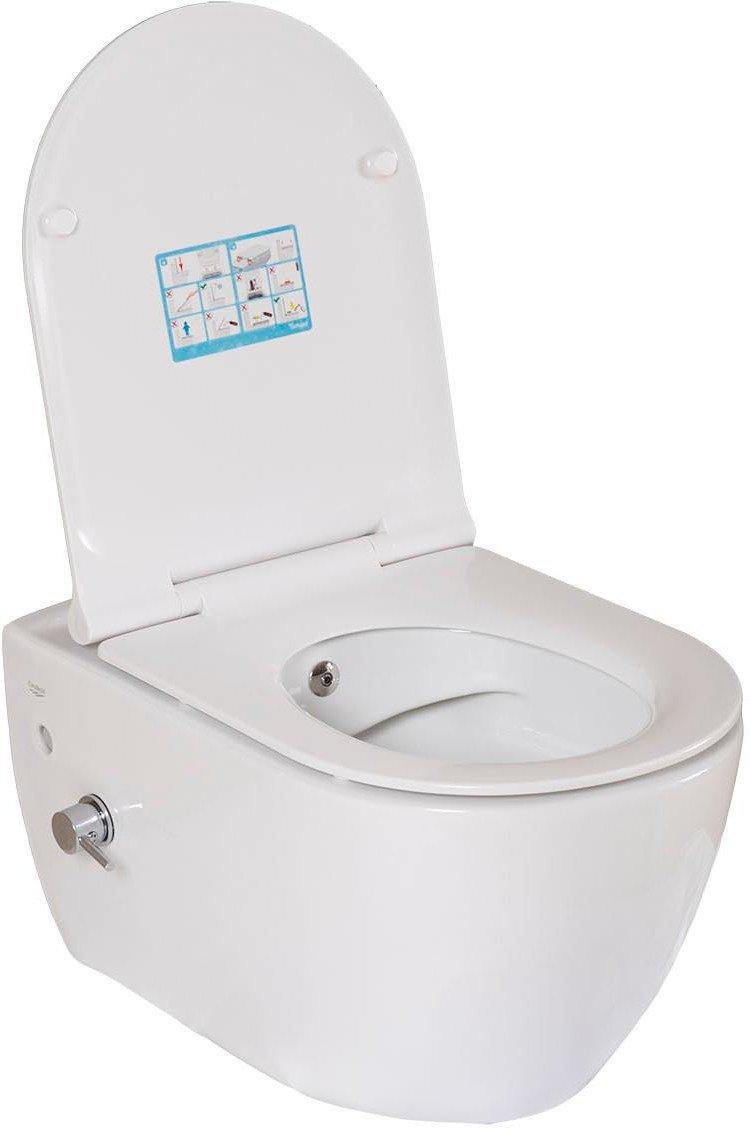 Унітаз Cerastyle City 019100-U з функцією біде і вентилем + сидіння Soft Close (9SC1061S01)
