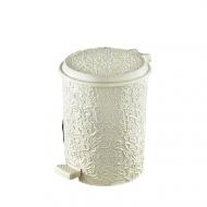 Ведро для мусора с педалью Elif Ажур 17 л Молочный (326)