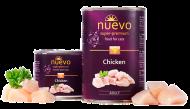 Блок консервованого корму Nuevo Adult для котів з куркою 6х400 г