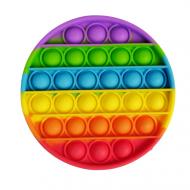 Игрушка-антистресс пупырка Pop It Push Up Bubble Круг Радужный