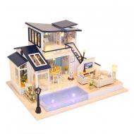 3D Румбокс CuteBee DIY DollHouse Котедж з басейном  (M91)