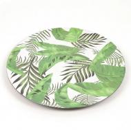 Тарелка бамбуковая подвесная Flora 33 см Листья зеленые 45173