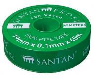 Фум стрічка SANTAN PROFI 19х0,1 мм 45 м Зелений (40447)