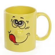 Чашка керамическая Flora Смайлик 0,34 л (31449)