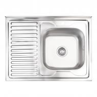 Мойка для кухни Lidz 6080-R Satin 0,8 мм (LIDZ6080RSAT8)