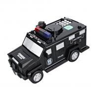 Детский сейф-копилка Cash Truck с кодом и отпечатком пальца в виде полицейской машины (T163)