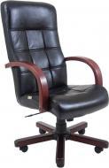 Крісло Virginia шкіра Комбо Lux Wood М3 MultiBlock Чорний