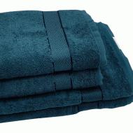 Полотенце махровое изумрудное 70*140 см  (бордюр сатин) ТМ Аиша