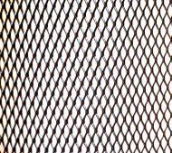 Сітка для захисту радіатора алюмінієва Carmos № 4 крупна ромбовидна 20х100 см Чорний