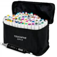 Набір маркерів двосторонніх TouchFive набір 80 кольорів (TOUCH80-CH)
