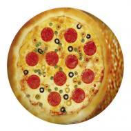 Подушка пуфик круглая Пицца 35 см (PP_15M102)