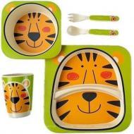 Набір дитячого посуду з бамбука Тигр 5 пр StMH-2770-25