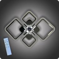 Люстра світлодіодна Vatan Light Ромби-4 з пультом 96 Вт Хром (01381)