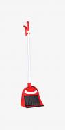 Набор для уборки Plastart совок и щетка с ручкой Красный (MUP-TE-330)