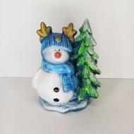 Фигурка Adeko Новогодний Снеговик 19 см