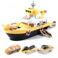Корабель Six-six-zero з катерами зі світлом і звуком Жовтий (58145)