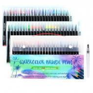 Маркеры акварельные набор Worison 48 цветов и кисточка