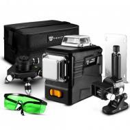 Профессиональный лазерный уровень нивелир Deko LL12-PB2 3D 12 линий кронштейн и Зеленый луч