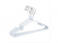 Металеві вішаки з силіконовим покриттям 10 шт. Білі