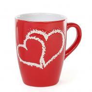 Чашка керамическая Flora Сердца 0,33 л (31539)