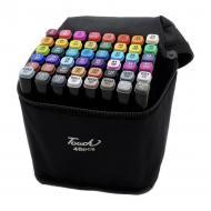 Набір скетч маркерів 48 кольорів двосторонні для малювання в сумці