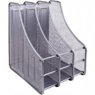 Лоток настільний Metal Lux вертикальний/3 відділення Срібний