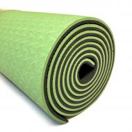 Йогамат TPE MS 0613-1-BG чорно-зелений