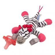 Пустушка Dr. Brown's з іграшкою Зебра 0-12 міс Рожевий
