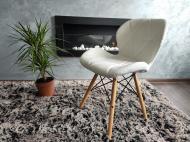 Кресло скандинавское Zano Эко-кожа White