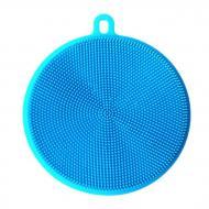 Універсальна силіконова губка-щітка для миття посуду Синій (NR0029)