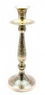 Подсвечник бронзовый Серебро 24,5 см